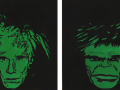 D.Hirsch So What (Andy Warhol and Hulk), 100cm x 100cm