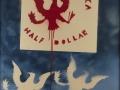 Franco Angeli, Half Dollar, 1975-78, tecnica mista su tela, 135 x 100 cm