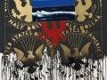 Franco Angeli, Half  Dollar, 1979-82, Smalto su tela, 160 x 130 cm