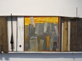 Giuseppe Maraniello, Raccordi, 2006, Olio, legno e bronzo,  43,5 x 115 cm