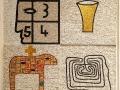 M. Paladino Senza titolo mosaico 90x90