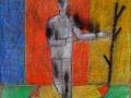 Mimmo Paladino, 2009, Tecnica mista su tela, 40 x 50 cm