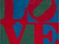 Robert Indiana, Classic love,carpet,1995, 243x243 cm