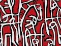 Sergio Fermariello, Senza titolo, 2008, Tavola e tela, 120 x 120 cm